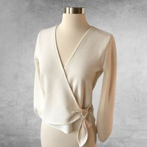 MADEWELL Texture and Thread Crepe Wrap Top XS